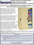 Jumbo Storage Cabinet - Preasssembled with Sliding Door, JSD2478SU (2520408)