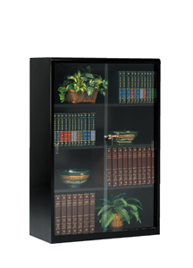 52 High Executive Bookcase With Gl Doors 352gl