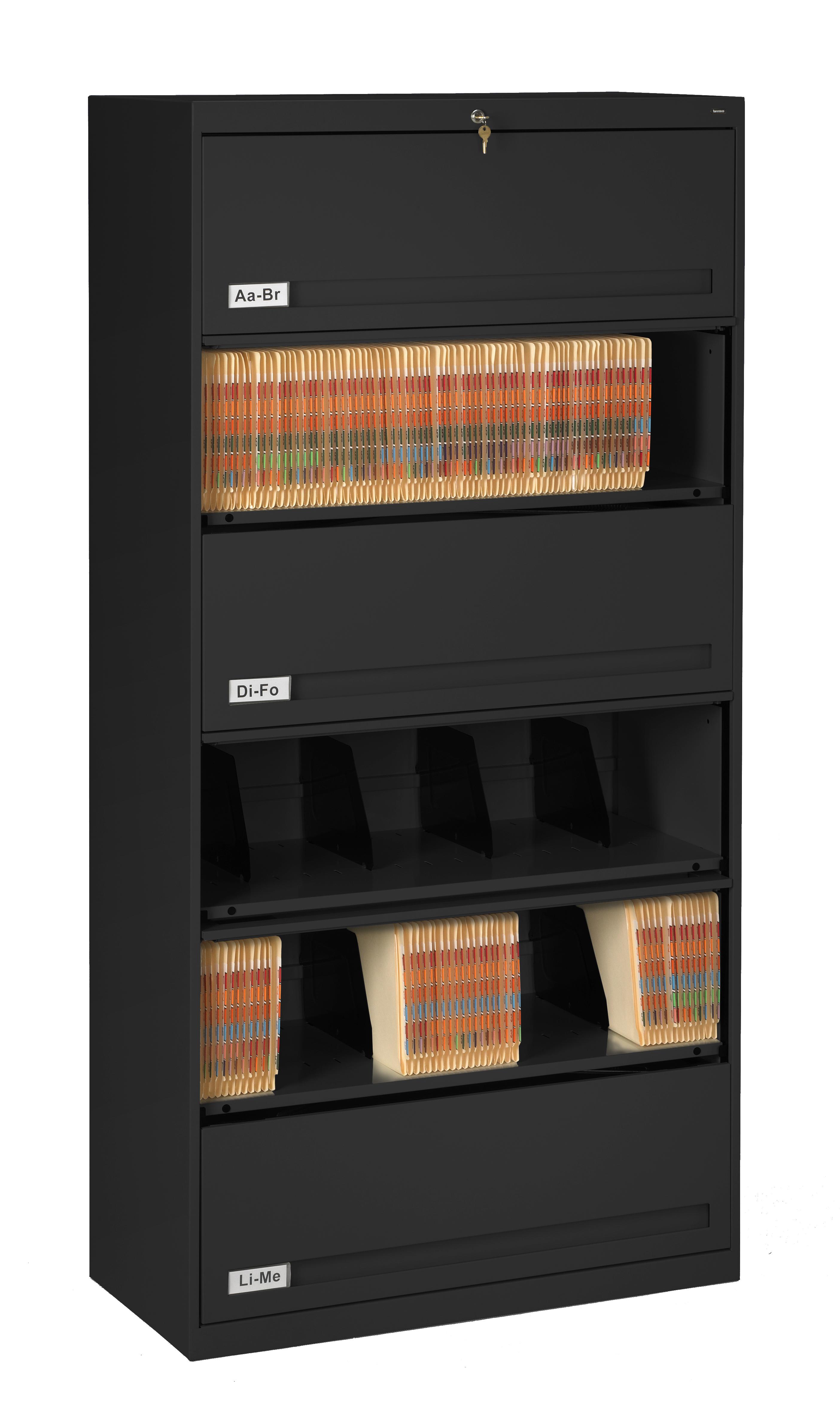 36w x 16 1//2d x 75 1//4 Light Gray Tennsco Closed Fixed Shelf Lateral File