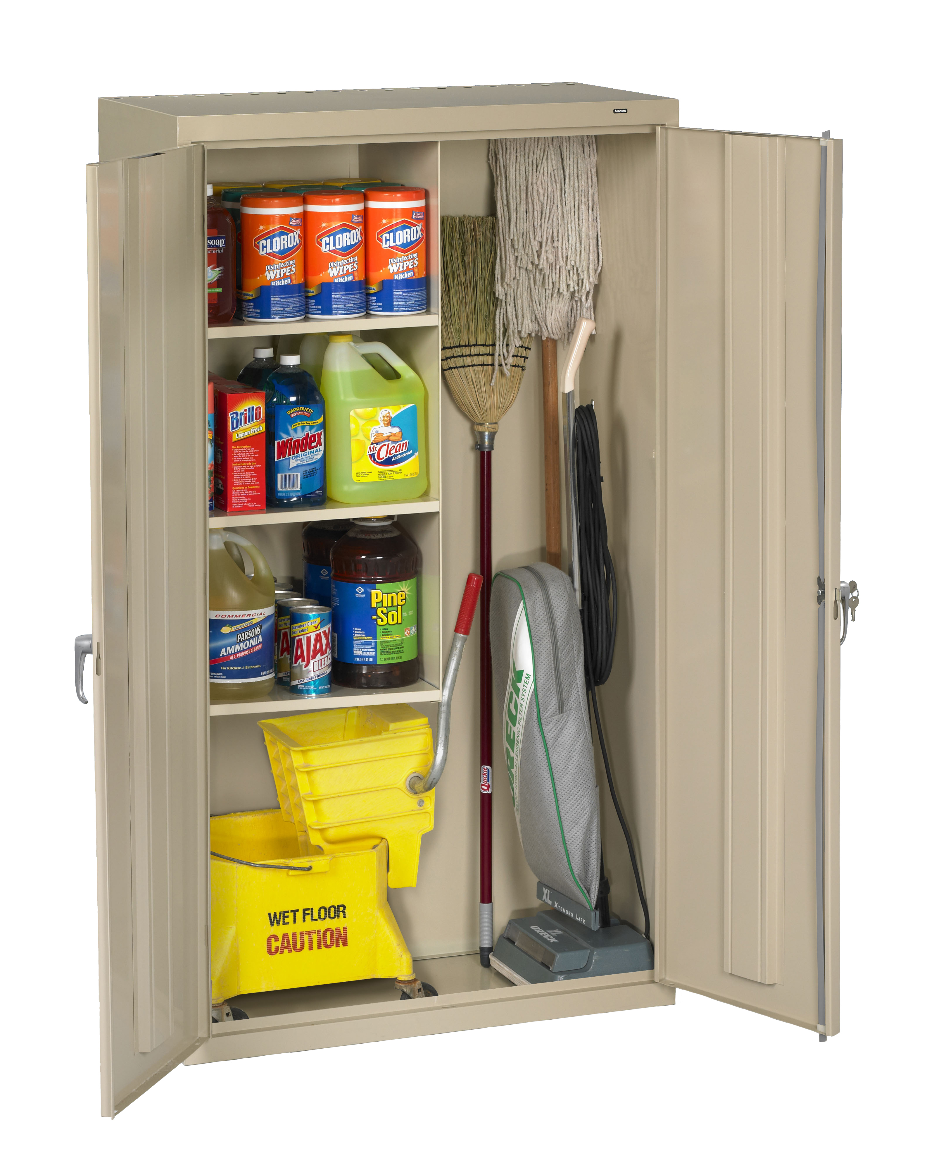 Tennsco Storage Made Easy Janitorial Supply Cabinet
