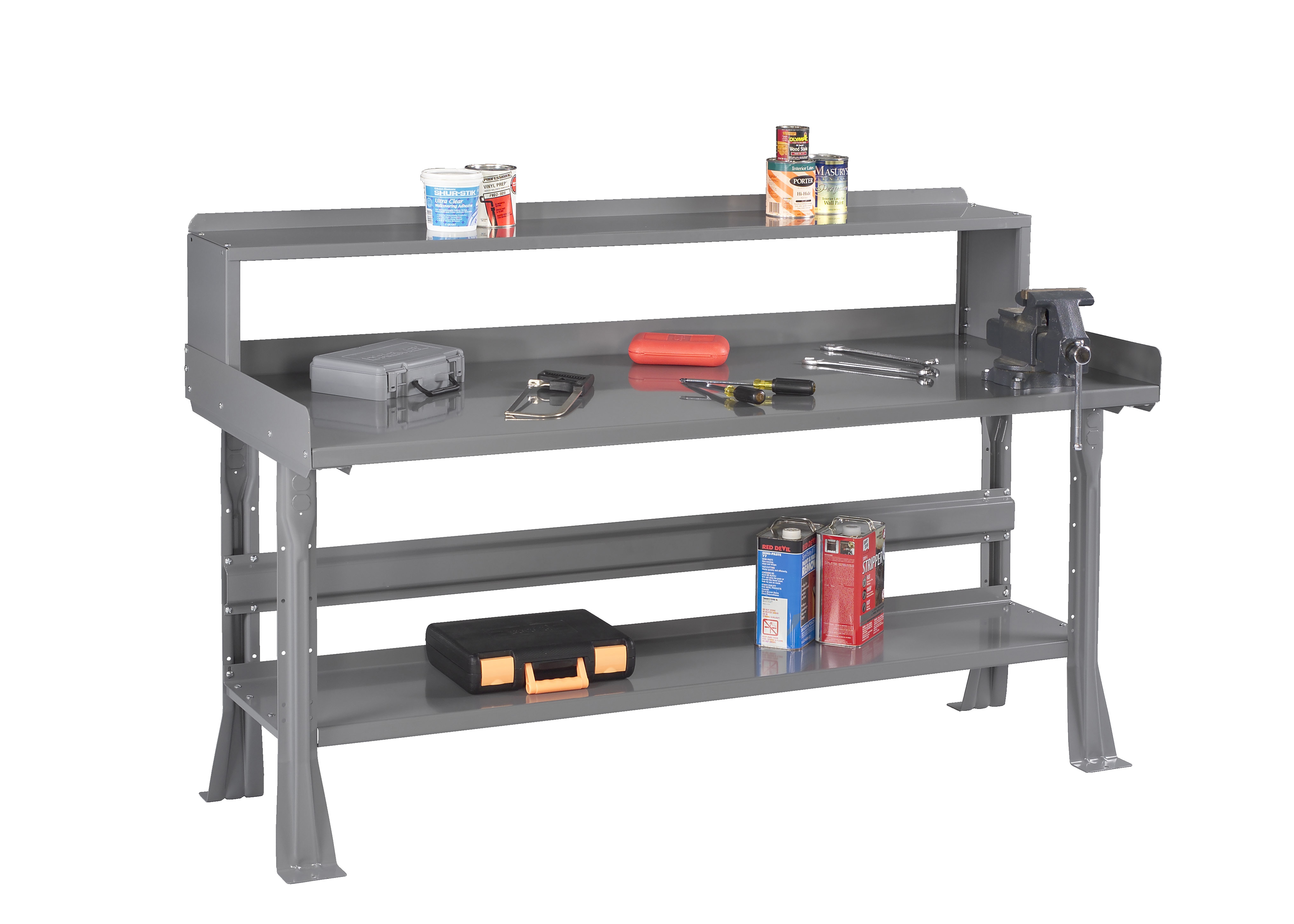 Tennsco Storage Made Easy Flared Leg Workbench With